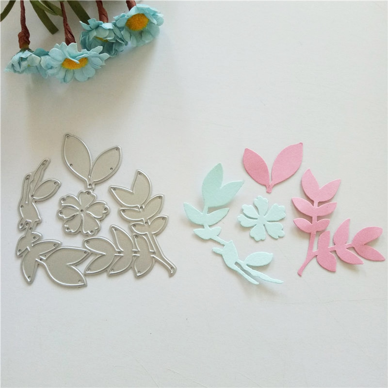 natural Leaves Metal Cutting Dies Stamp Set for DIY Scrapbooking Decoretive Embossing Stencial paper craft home decoration