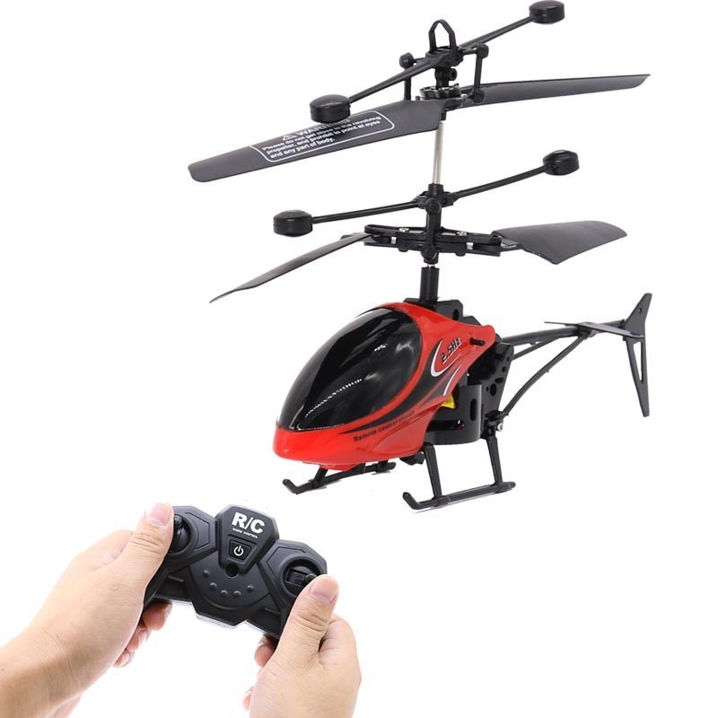 ¡Oferta! Helicóptero volador remoto con luces intermitentes, aviones controlados a mano, juguetes al aire libre para niños, regalos