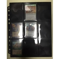 Cards Pages 50pages 2 Sides 9 Pockets 18pockets page Board game cards page trading card protector for trading cards pages