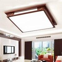 בסגנון סיני עץ תקרת מנורת creative מלבן מלון סלון חדר שינה אולם תאורת אקריליק מנורת תקרת m