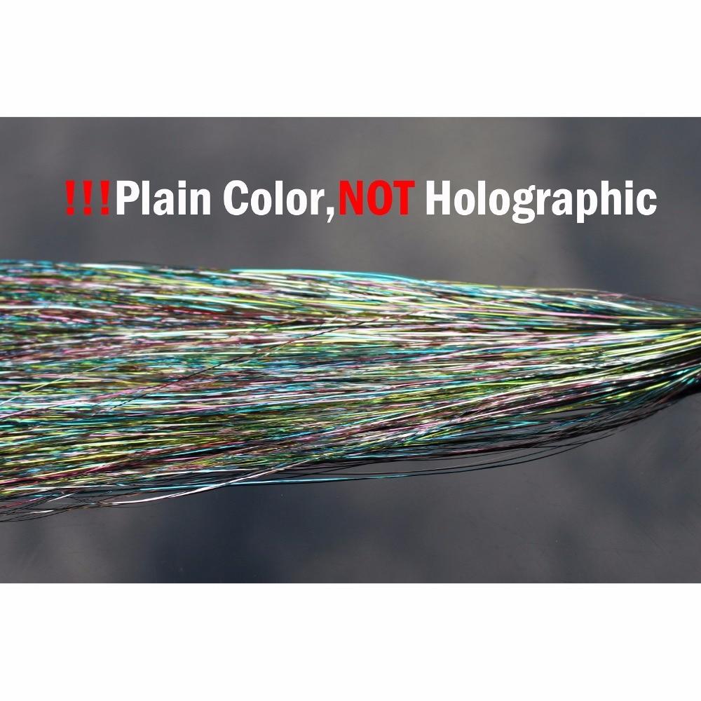 Купить с кэшбэком Tigofly 5 Packs Mixed Colors 0.3mm Flashabou Holographic Tinsel Flat Mylar Crystal Flash Trout Tube Fly Fishing Tying Materials