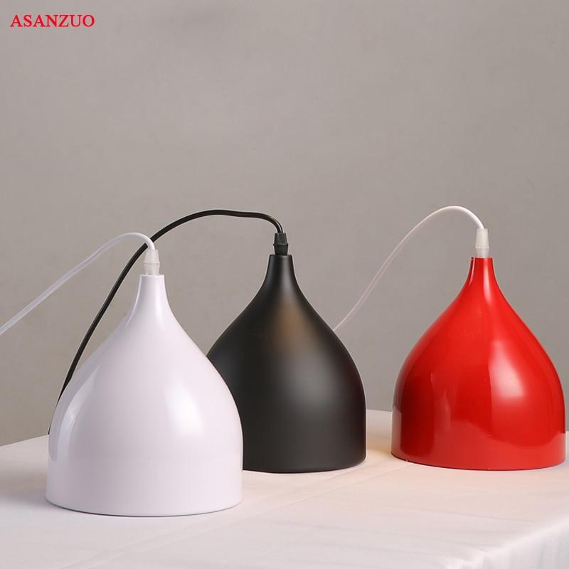 LED ceiling pendant lamp black white Red color 3head pendant lights indoor home decoration modern led light lighting luminaire