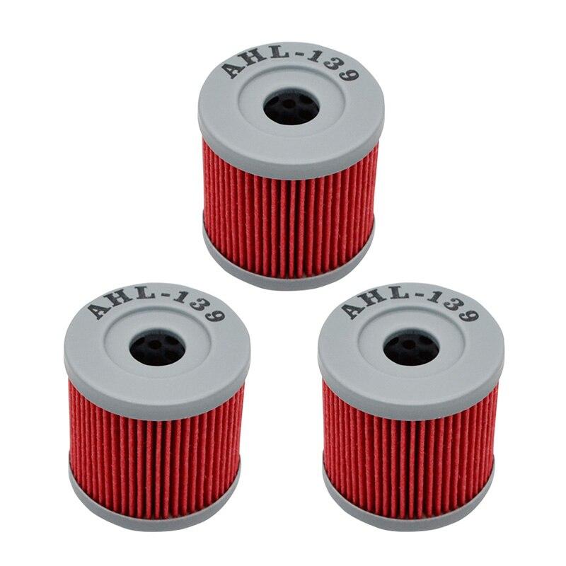 3 uds. De filtro de aceite para SUZUKI DRZ400 DRZ 400 2000-2004 DRZ400E 400E 2008-2008 DRZ400S 20000-2013 2015 DRZ400SM 05-15