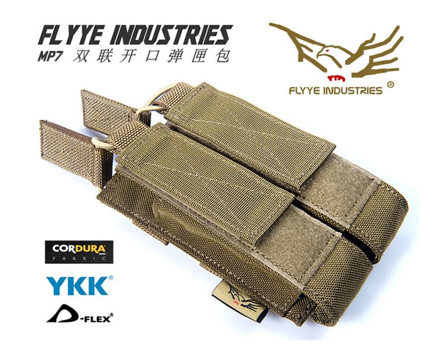 Flyye molle MP7 doble apertura revistero bolsa militar CORDURA FY-PH-M027