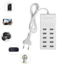 10 porty USB szybkie ładowanie ładowarka piasta 5 V/10A ue w wielkiej brytanii wtyczka do iPhone'a Samsung Tablet bezpieczne i wygodne