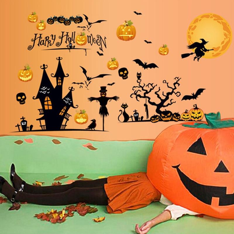 Vinilo adhesivo para pared de Halloween Material de PVC DIY todo el...