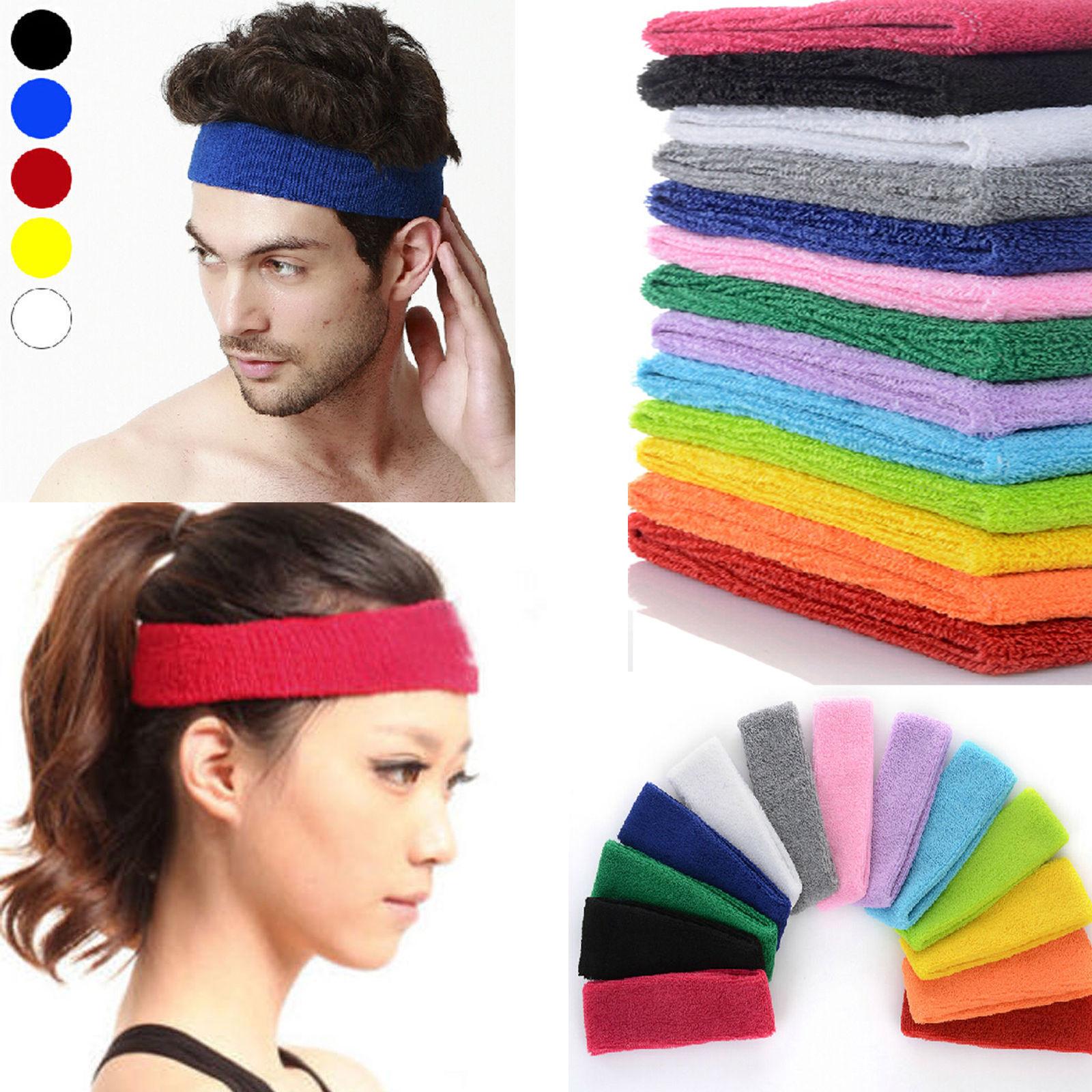 Cotton Men Women Sport Sweat Sweatband Headband Yoga/Gym Stretch Hair Head Band Adjustable Bboy Caps Outdoor Sun