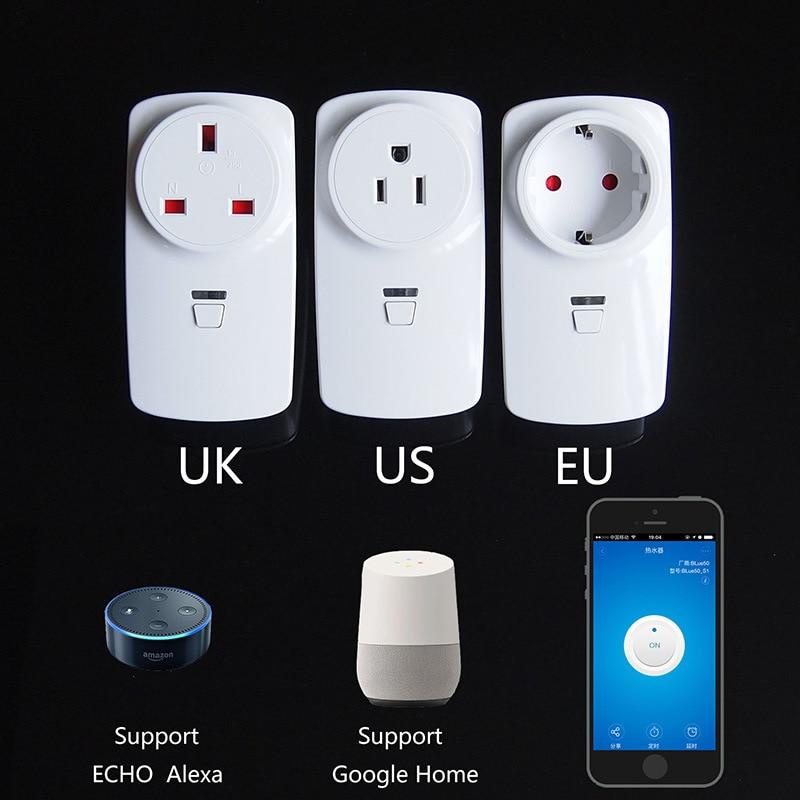 Intelligent socket WiFi Echo Alexa Handset switch Timing plug Voice control British  European  American Standard