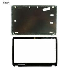 NUEVA cubierta trasera LCD para portátil/bisel frontal LCD para HP Envy 6 6-1000 692382-001 negro A y B carcasa 7J260