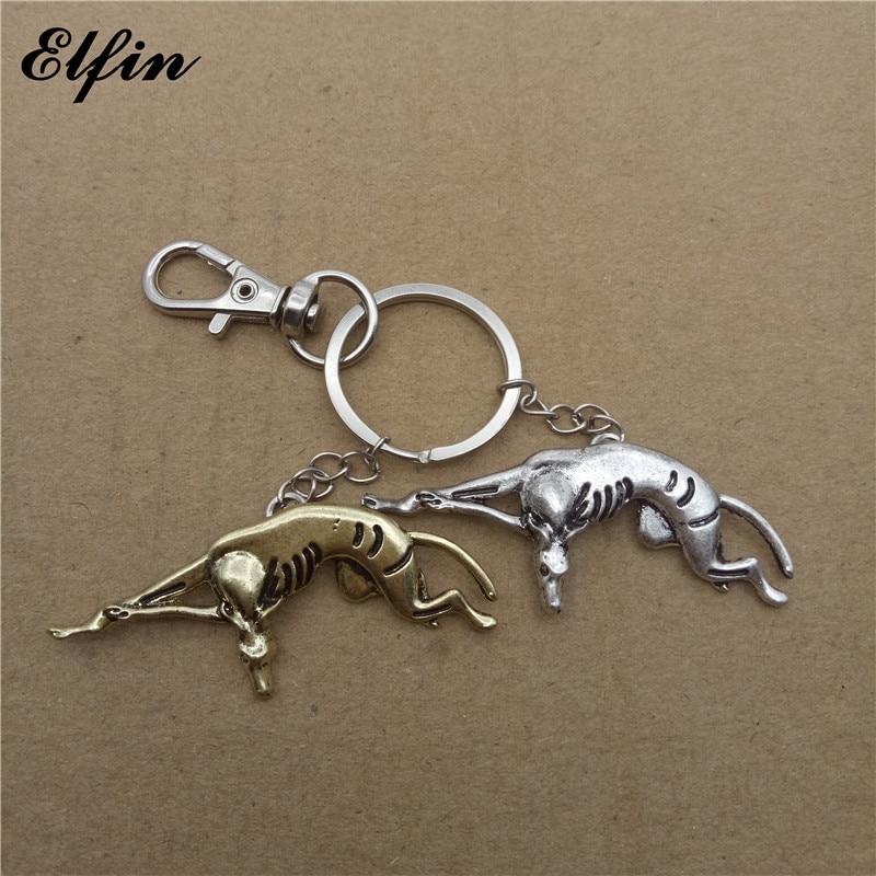 Elfin Trendy Greyhound Key Chains Fashion Animal Pet Memorial Jewellery Whippet Key Rings