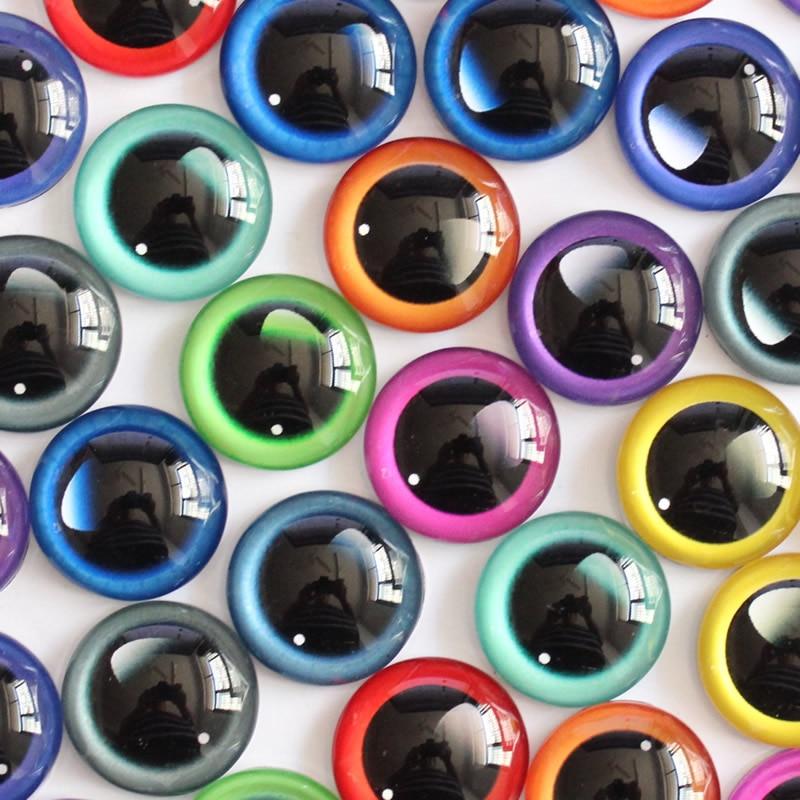 20mm Ojos de dragón cabujón de cristal redondo plano foto accesorio para Domo colgante Base en pares 20 unids/lote K05407