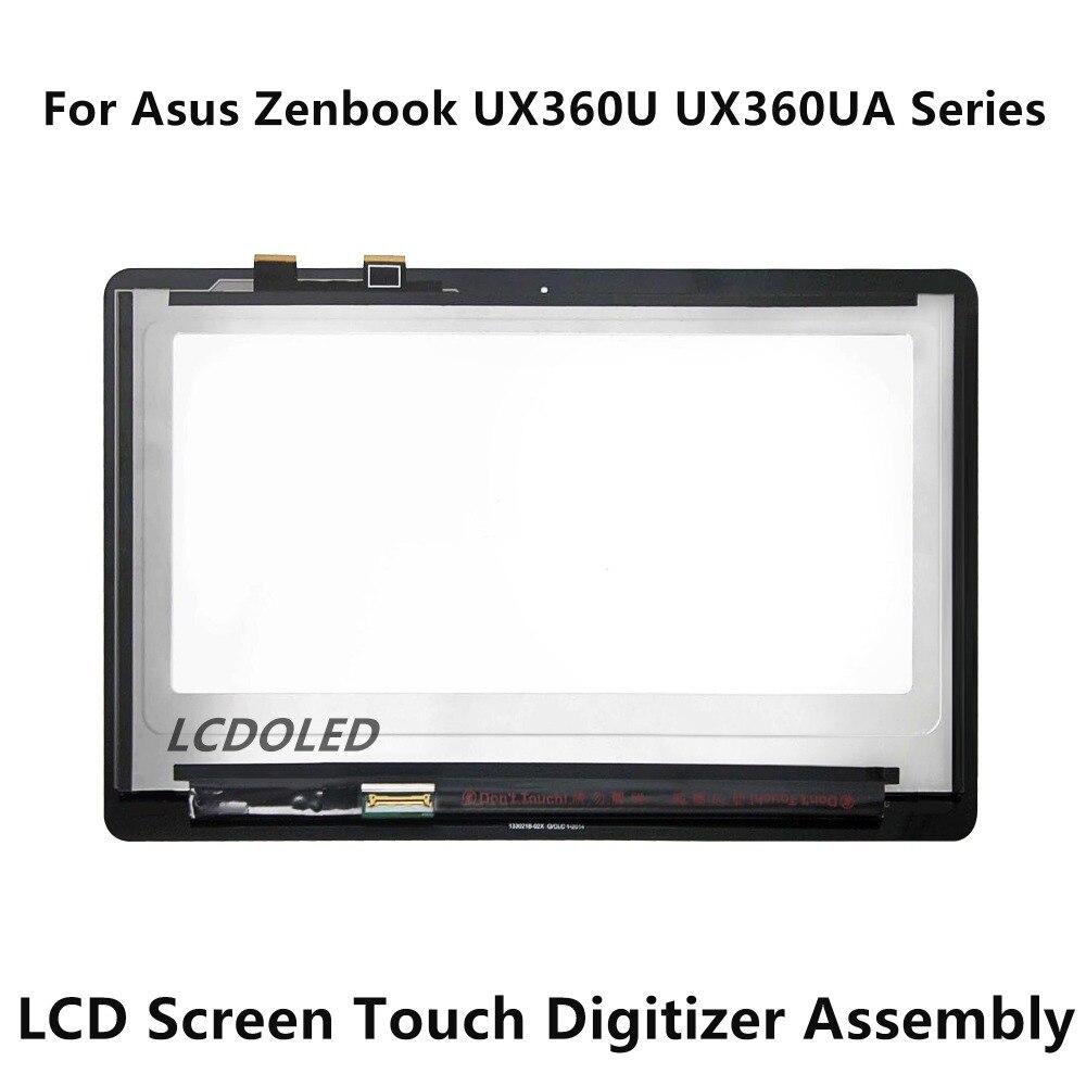 شاشة لمس LCD كاملة مقاس 13.3 بوصة لجهاز Asus Zenbook ، حامل زجاجي ، سلسلة UX360U UX360UA B133HAN02.7 LP133QD1.SPB2