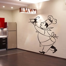 Aufkleber Küche Chef Cuistot Vinyl Wand Abziehbilder Aufkleber Wandbild Wand Kunst Küche Fliesen Tapete Home Decor Haus Dekoration DD0308