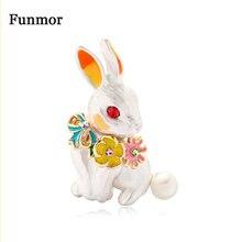 Эмалированные брошки Funmor с милым Кроликом, шпильки из сплава для женщин и мужчин, аксессуары для свадебного банкета, вечеринки, пальто, шляп...