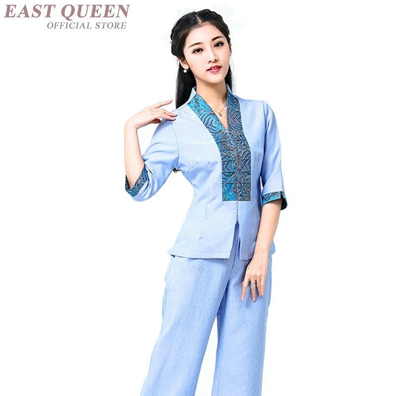 Uniforme de massagem myanmar ásia thai massagem roupas femininas novo design thai massagem uniformes recepcionista uniformes dd1122