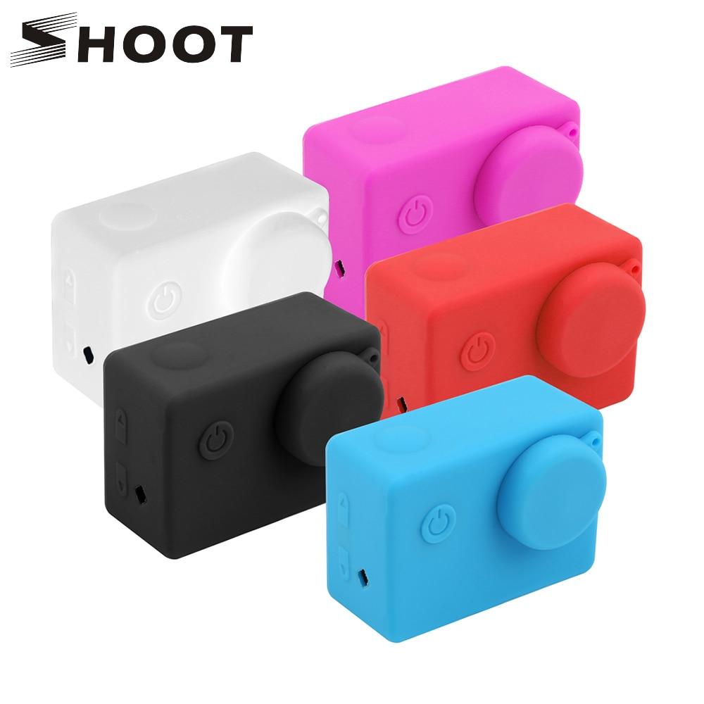 SHOOT Soft Silicone Case Protector for Sjcam Sj4000 Sj5000 Sj6000 Sj7000 Sj9000 Action Camera for sjcam sj7 sj6 Accessories