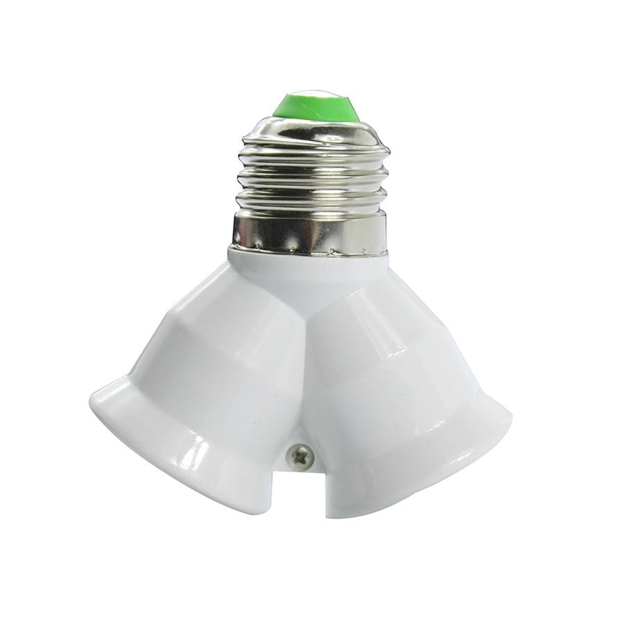 Kitop 1pcs E27 to 2 E27 Adapter Converte 2E27 Lamp Holder Light Lamp Bulb Converter Corn Candle Ball Bulb lighting Use