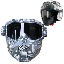 Nowa maska na motocykl kask z goglami okulary Camo Street Fighter motocykl kask motocyklowy gogle fit Shark kask