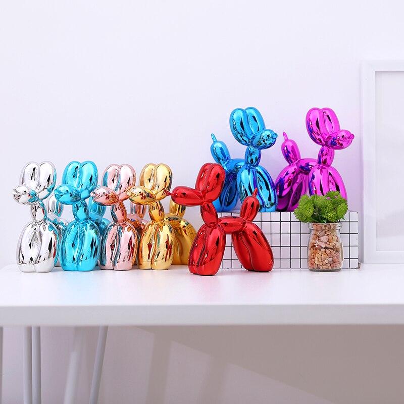 Современные воздушные шары собаки скульптуры домашнее украшение Искусство Смола Ремесло Скульптура искусство для украшения дома