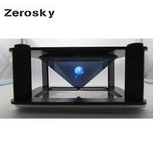 Zerosky 3D hologramme Type daffichage et Application intérieure pyramide hologramme affichage hologramme pyramide vitrine de luxe pour Smartphone