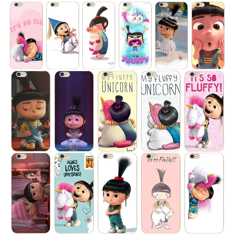 02 ZX Agnes Minion mi unicornio Agne suave de silicona teléfono funda para el iPhone 7 6 6S 8 Plus 5S SE Coque Fundas