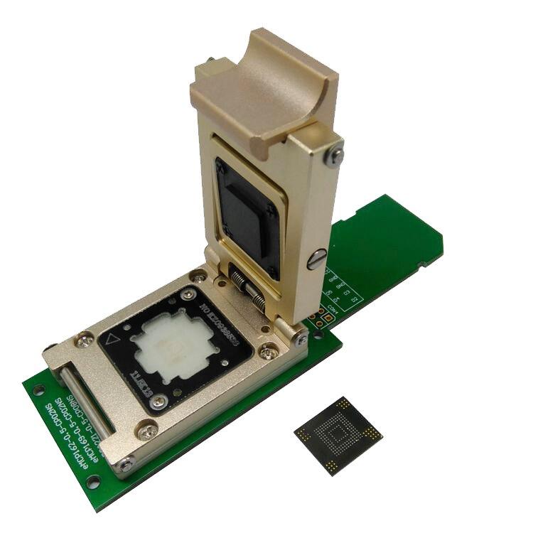 EMMC153/169 aleación con interfaz SD dispositivo digital inteligente dispositivo GPS memoria flash Recuperación de Datos prueba de encendido adaptador de programación