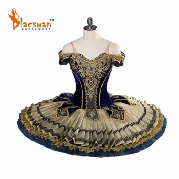 Gold Sleeping Beauty Custom Made Pancake Professional Classical Ballet Tutus YAGP Competition Costumes BT817