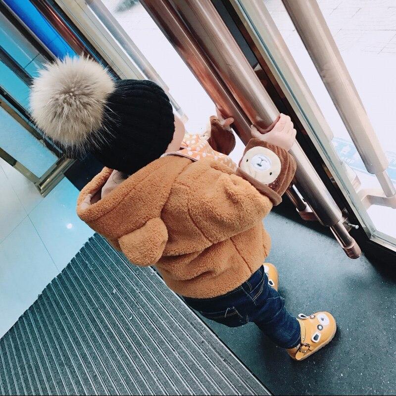 Зимние и Весенние шапки для детей, шапки Skullies Beanies 15 см с помпоном, меховая шапка для девочек, 2019