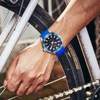 New SINOBI Stainless Steel Men's Sports Watches Luxury Brand Silicone Waterproof Men Military Watch Quartz Relogio Masculino