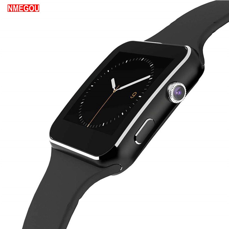 Reloj inteligente Bluetooth X6 para hombre con cámara, pantalla táctil, reloj inteligente de muñeca para teléfono Android IOS, reloj inteligente deportivo, Tarjeta Sim para mujer