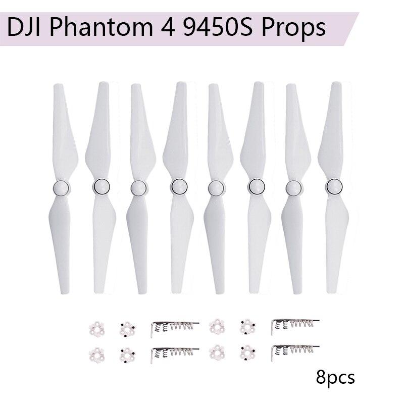 8 Uds 9450S hélice cuchillas para DJI Phantom 4 Pro avanzado 4A Cámara 9450 accesorios de liberación rápida CW CCW Accesorios