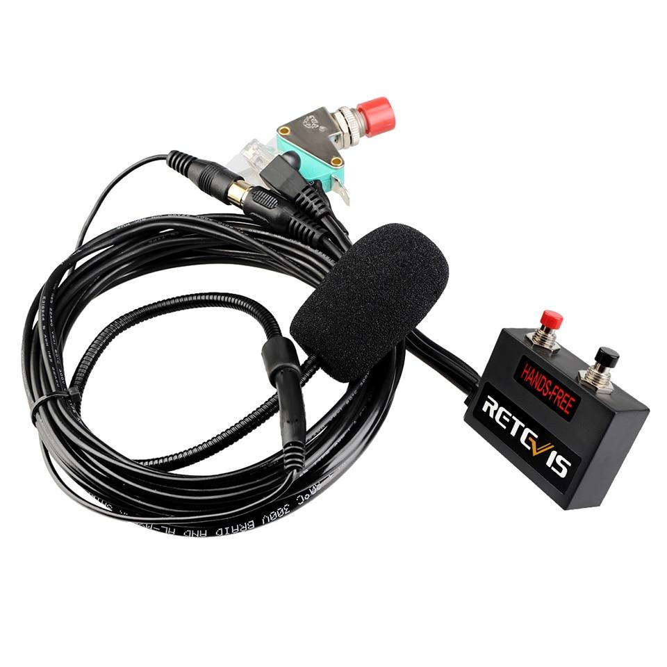 Retevis MR001 6-жильный палец PTT MIC Hands-free гарнитура для мобильной автомобильной радиостанции Retevis RT9000D для Motorola SMP-908