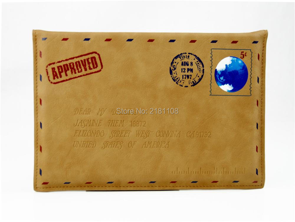 Couro do plutônio envelope saco/caso capa para apple ipad 2 3 4 ar 5/6 caso capa protetora para ipad mini234