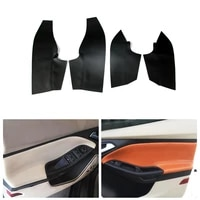 2pcs microfiber leather interior car door handle armrest panel covers protective trim for ford focus 2014 2015 2016 2017 2018