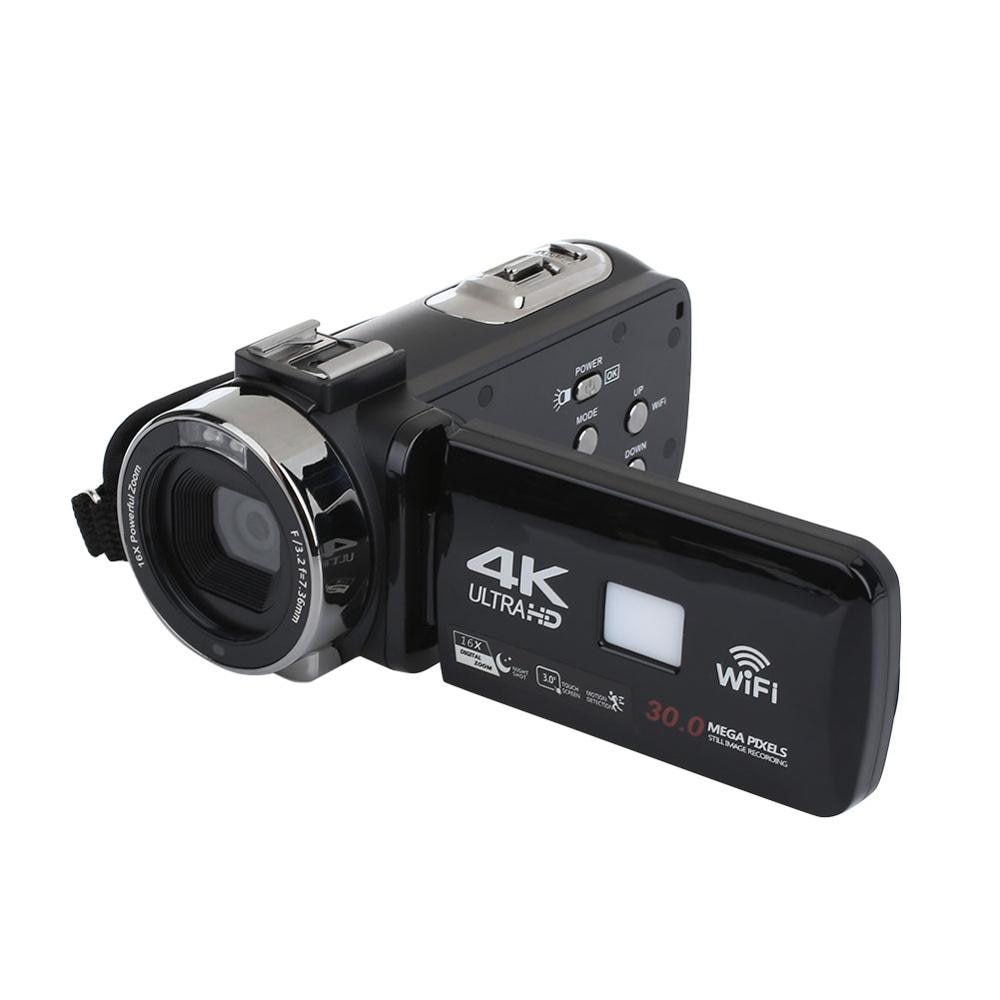 "4K Ultra HD 3.0"" LCD Touchscreen WiFi Digital Video Camera Camcorder DV Recorder 16X Zoom IR Night Vision Video Camera"