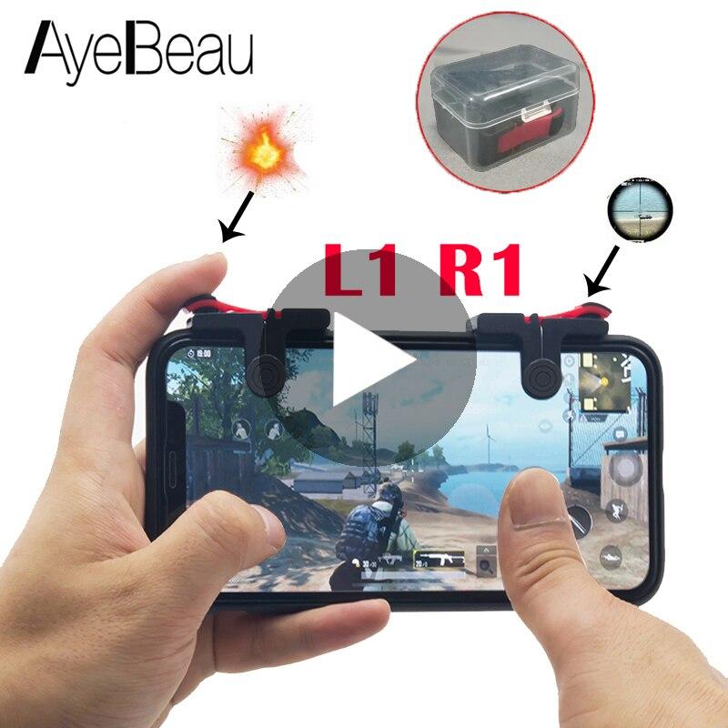 Activador Pubg Joystick controlador móvil para celular en teléfono móvil Android iPhone Gamepad juego Pad L1 R1 L1R1 Joypad Smartphone