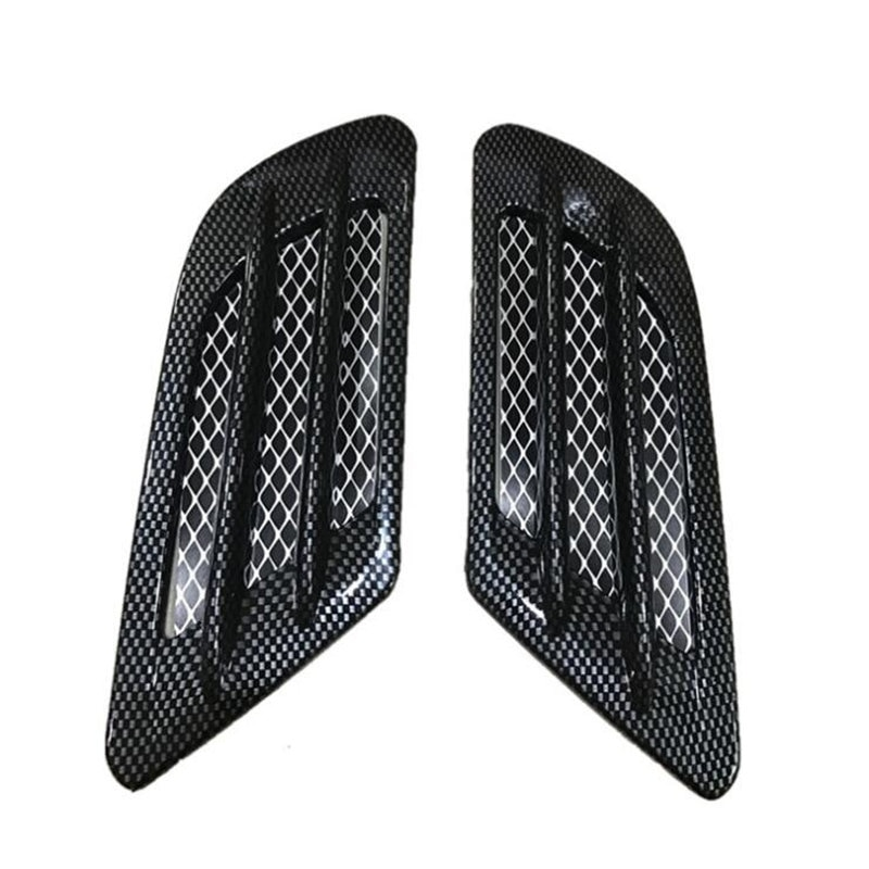 2Pcs/Set Carbon fiber Universal Car Side Air Flow Vent for Fender Hole Cover Intake Grille Duct Decoration ABS Sticker