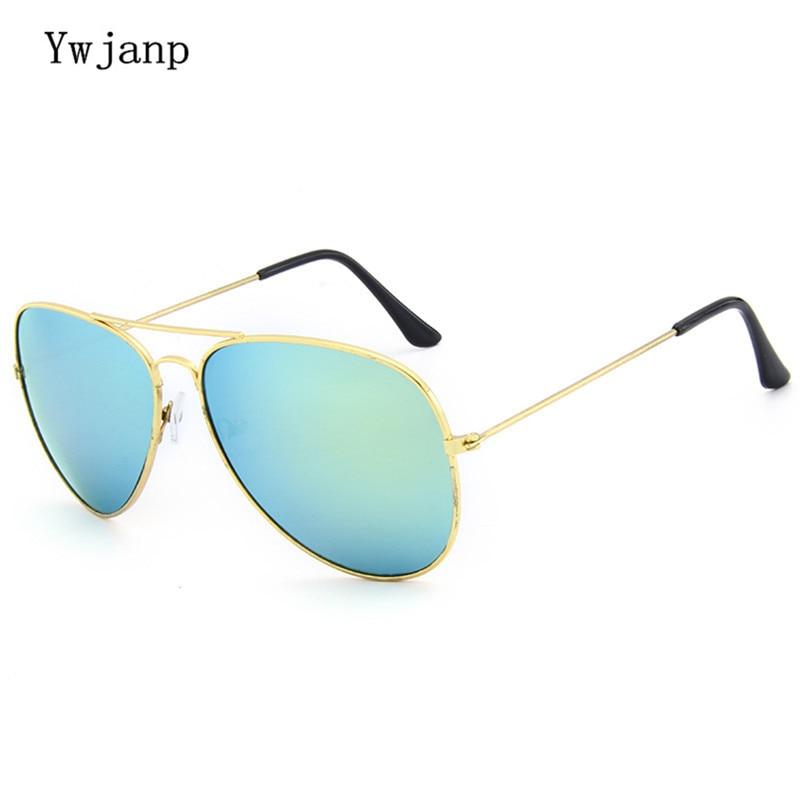 Ywjanp Brand Sunglasses Men Women Driving Driver Sun Glasses Vintage Oval Anti-UV Goggles Couple Eye