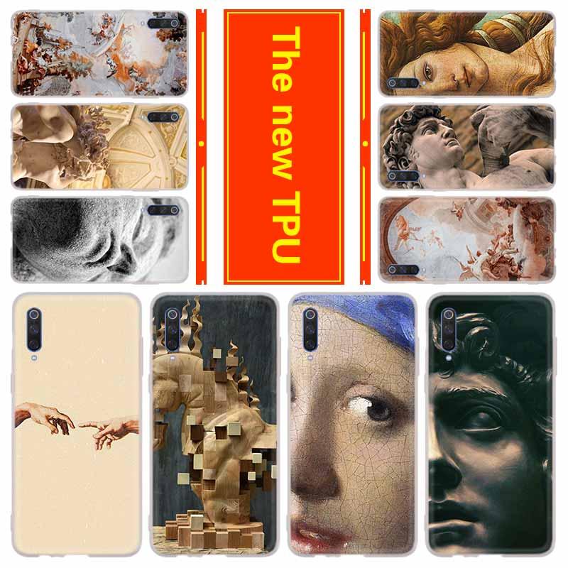 Teléfono para Xiaomi 9 SE 8 5X 6X Mi CC9 cc9e 8 A1 A2 A3 lite F1 MIX 2S note10 funda Retro estatua de arte Vintage