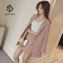 Mode 2019 femmes jupe costumes simple bouton cranté rayé Blazer vestes Slim Mini jupes deux pièces ensembles OL femme S95515Z