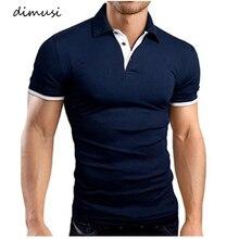 DIMUSI hommes Polos été hommes décontracté manches courtes coton Polos chemises hauts à la mode t-shirts Para Hombre marque vêtements 5XL, YA799