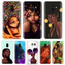 Женский черный чехол для телефона PUNQZY Afros для Samsung S10 PLUS/s6/S9/s8/s8 Plus A50 A70 A30 S10 Melanin A6 2018 мягкий чехол из ТПУ