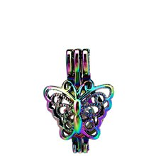 C681 5 pcs/lot couleurs multicolore papillon perles Cage pendentif médaillon conte de fées fête diffuseur dhuile essentielle
