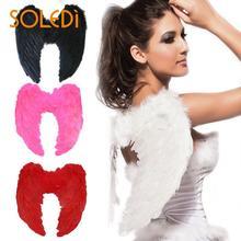 1pc 4 couleur aile habiller Costume tenue Photo accessoires jolie mode fournitures noël Halloween filles plume fée belle