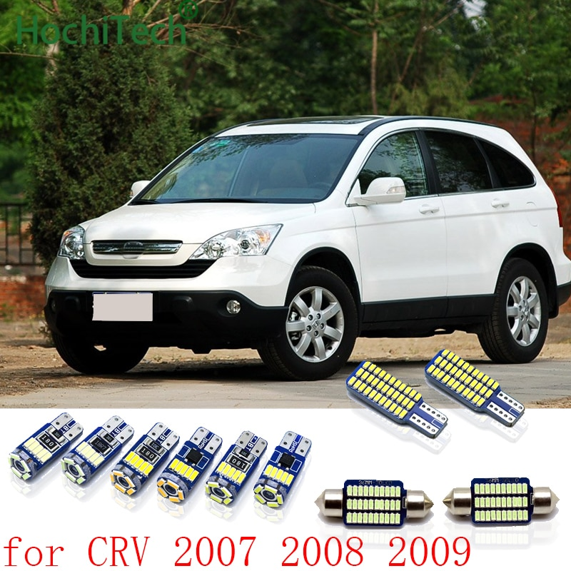 Kit de 4 Uds. De luces interiores para automóvil Canbus, luces Led para Honda CRV 2007 2008 2009 Cary, luces Led de techo Interior para maletero