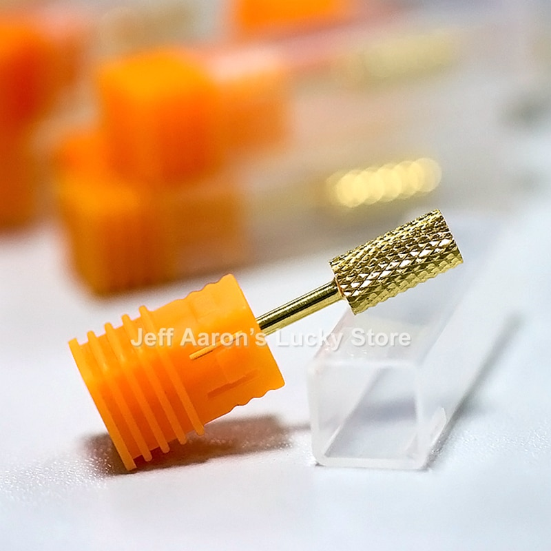 1PC Professional Gold coated Titanium Carbide Nail Drill Bits For Electric Nail Drill Machine Kit