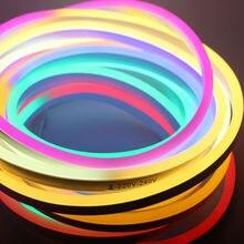Bande LED flexible lumière AC 220 V 230 V 240 V SMD 2835 LED néon flex tube 120 LED IP68 étanche corde chaîne lampe + prise dalimentation EU