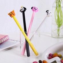 40 pièces papeterie dessin animé chien gel stylo encre cadeau prix fournitures de bureau étudiant test stylo
