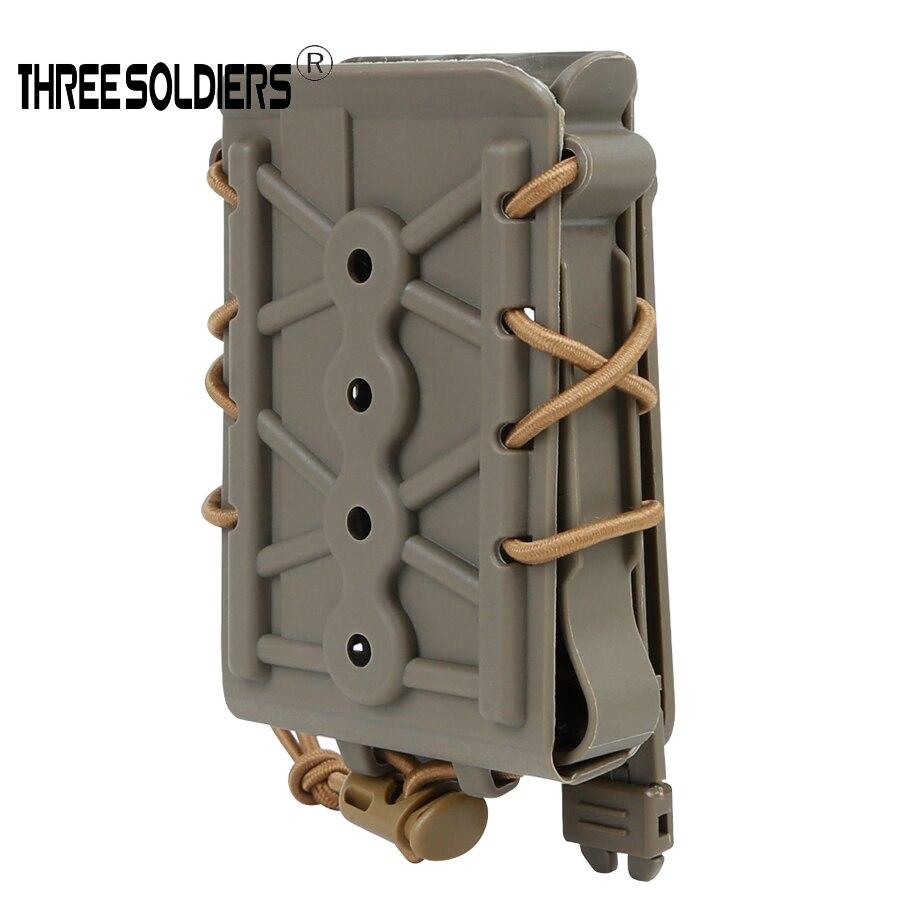 Tres soldados tácticos Alien Molle M4, bolsas para revistas para 5,56/7,62, cordón expandible, accesorios de caza del ejército