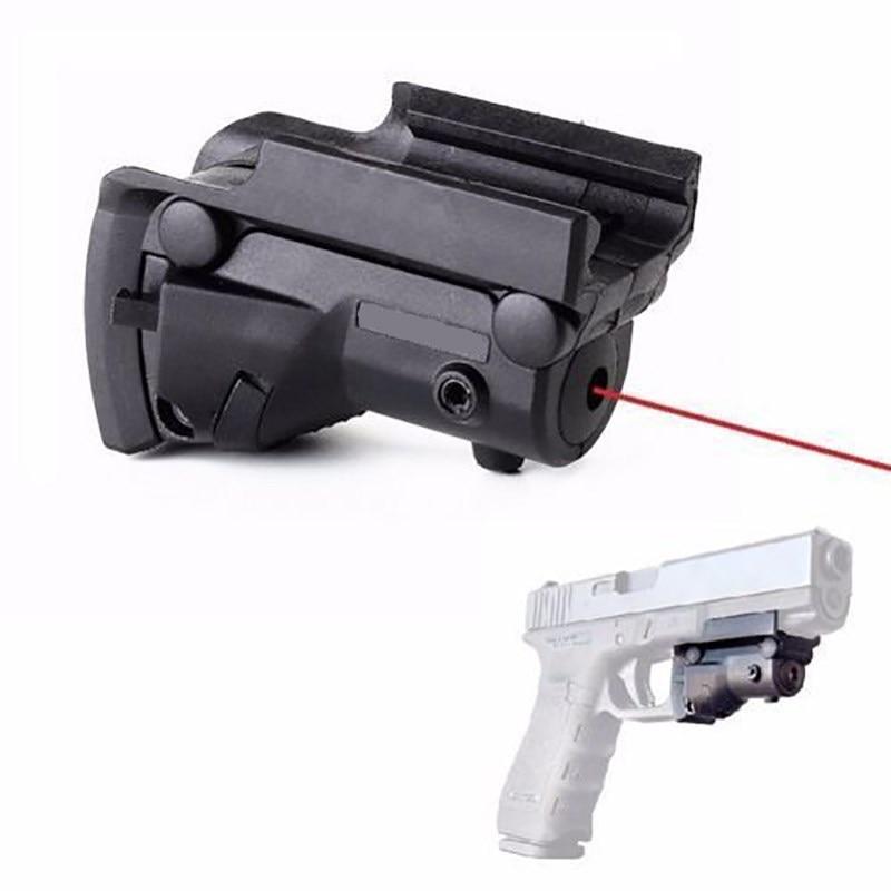 Tático mini laser vermelho visão g17 g18 g22 p226 pistola pistola de ar duplo interruptor 650nm diodo laser vermelho